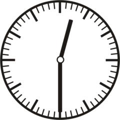 Uhrzeit 12.30   0.30 - Uhr, Uhrzeit, halb, Zeit, Zeitspanne, Zeitpunkt, Zeiger, Mechanik, Zeitskala, Zeitgeber, Analoguhr, Zifferblatt, Ziffernblatt, rechtsdrehend, Uhrzeigersinn, Minute, Stunde, Kreis, Winkel, Grad, Mathematik, Größen, messen, time, clock, ermitteln, Zeitraum, Dauer, Frist, Termin, Zeitabschnitt, half past