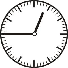 Uhrzeit 0.45     12.45 - Uhr, Uhrzeit, dreiviertel, viertel vor, Zeit, Zeitspanne, Zeitpunkt, Zeiger, Mechanik, Zeitskala, Zeitgeber, Analoguhr, Zifferblatt, Ziffernblatt, rechtsdrehend, Uhrzeigersinn, Minute, Stunde, Kreis, Winkel, Grad, Mathematik, Größen, messen, time, clock, ermitteln, Zeitraum, Dauer, Frist, Termin, Zeitabschnitt, quarter