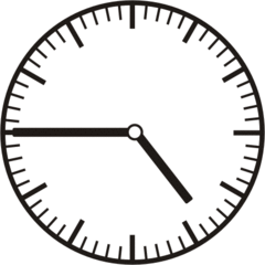 Uhrzeit 4.45   16.45 - Uhr, Uhrzeit, dreiviertel, viertel vor, Zeit, Zeitspanne, Zeitpunkt, Zeiger, Mechanik, Zeitskala, Zeitgeber, Analoguhr, Zifferblatt, Ziffernblatt, rechtsdrehend, Uhrzeigersinn, Minute, Stunde, Kreis, Winkel, Grad, Mathematik, Größen, messen, time, clock, ermitteln, Zeitraum, Dauer, Frist, Termin, Zeitabschnitt, quarter