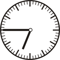 Uhrzeit  6.45     18.45 - Uhr, Uhrzeit, dreiviertel, viertel vor, Zeit, Zeitspanne, Zeitpunkt, Zeiger, Mechanik, Zeitskala, Zeitgeber, Analoguhr, Zifferblatt, Ziffernblatt, rechtsdrehend, Uhrzeigersinn, Minute, Stunde, Kreis, Winkel, Grad, Mathematik, Größen, messen, time, clock, ermitteln, Zeitraum, Dauer, Frist, Termin, Zeitabschnitt, quarter