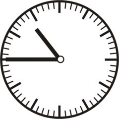 Uhrzeit 10.45     22.45 - Uhr, Uhrzeit, dreiviertel, viertel vor, Zeit, Zeitspanne, Zeitpunkt, Zeiger, Mechanik, Zeitskala, Zeitgeber, Analoguhr, Zifferblatt, Ziffernblatt, rechtsdrehend, Uhrzeigersinn, Minute, Stunde, Kreis, Winkel, Grad, Mathematik, Größen, messen, time, clock, ermitteln, Zeitraum, Dauer, Frist, Termin, Zeitabschnitt, quarter