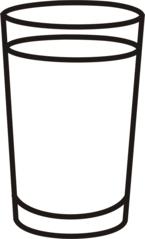 Glas - Glas, voll, Getränk, trinken, Anlaut G