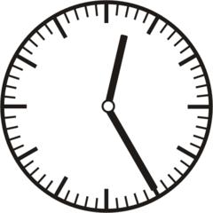 Uhrzeit  0.25  12.25 - Uhr, fünf Minuten vor, Uhrzeit, Zeit, Zeitspanne, Zeitpunkt, Zeiger, Mechanik, Zeitskala, Zeitgeber, Analoguhr, Zifferblatt, Ziffernblatt, rechtsdrehend, Uhrzeigersinn, Minute, Stunde, Kreis, Winkel, Grad, Mathematik, Größen, messen, time, clock, ermitteln, Zeitraum, Dauer, Frist, Termin, Zeitabschnitt, twenty-five