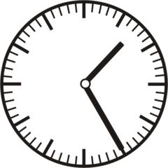 Uhrzeit 1.25  13.25 - Uhr, fünf Minuten vor, Uhrzeit, Zeit, Zeitspanne, Zeitpunkt, Zeiger, Mechanik, Zeitskala, Zeitgeber, Analoguhr, Zifferblatt, Ziffernblatt, rechtsdrehend, Uhrzeigersinn, Minute, Stunde, Kreis, Winkel, Grad, Mathematik, Größen, messen, time, clock, ermitteln, Zeitraum, Dauer, Frist, Termin, Zeitabschnitt, twenty-five