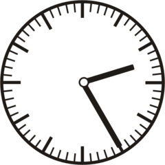 Uhrzeit  2.25  14.25 - Uhr, fünf Minuten vor, Uhrzeit, Zeit, Zeitspanne, Zeitpunkt, Zeiger, Mechanik, Zeitskala, Zeitgeber, Analoguhr, Zifferblatt, Ziffernblatt, rechtsdrehend, Uhrzeigersinn, Minute, Stunde, Kreis, Winkel, Grad, Mathematik, Größen, messen, time, clock, ermitteln, Zeitraum, Dauer, Frist, Termin, Zeitabschnitt, twenty-five