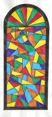 Kirchenfenster berechnen - Kirchenfenster, Fenster, Glasmalerei, Flächenberechnung, Kreisfläche, zusammengesetzte Fläche, Mathe, Kunst, Kirche, Fläche, Halbkreis, Mathematik