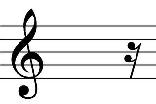 Sechzehntelpause - Noten, Notation, Pausenzeichen