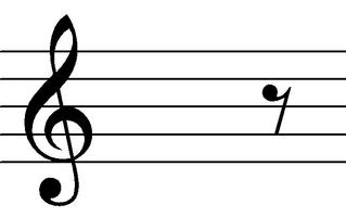 Achtelpause - Noten, Notation, Pausenzeichen