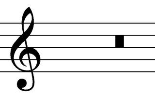 Doppelganze Pause - Noten, Notation, Pausenzeichen