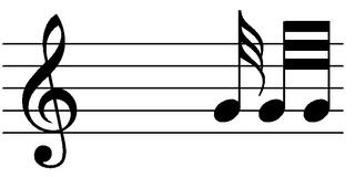 Zweiunddreißigstelnote - Note, Notation, Notenwert
