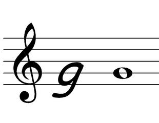 Violinschlüssel - Notation, Note, Violinschlüssel, Notenschlüssel, Wörter mit Doppelkonsonant