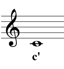 c' - eingestrichenes c - Noten, Notation, c, eingestrichen