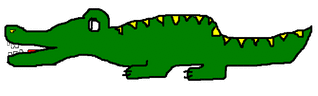 Krokodil / crocodile - Tier, Krokodil, crocodile, Reptil, grün, Illustration