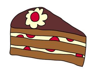 Tortenstück - Backware, Torte, Tortenstück, Anlaut T, Kreis, Kreisauschnitt, Winkel, Kreissektor