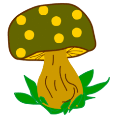 Pilz  - Anlaut P, Pilz, Wald, Illustration