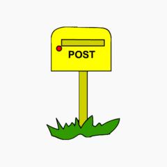 Briefkasten - Briefkasten, Postkasten, Brief, Post, Anlaut B, Anlaut P