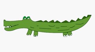 Krokodil - Tier, Anlaut K, Reptil, Illustration