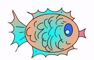 Fisch#7  - Fisch, Aquarium, Meer, schwimmen, Anlaut F, Illustration, Wörter mit sch