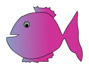 Fisch#5  - Fisch, Aquarium, Meer, schwimmen, Anlaut F, Illustration, Wörter mit sch