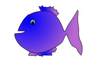 Fisch#4  - Fisch, Aquarium, Meer, schwimmen, Anlaut F, Illustration, Wörter mit sch