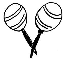 Rasseln - Musik, Instrument, Orff-Instrument, Idiophon, Schüttel-Idiophon, Musikinstrument, Rassel