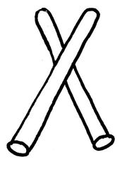 Klangstäbe - Musik, Instrument, Orff-Instrument, Schlaginstrument, Claves, Klanghölzer, Percussionsinstrument, Gegenschlagidiophone, Holzstab