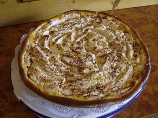 Apfelkuchen mit Rahmguß - Apfelkuchen, Rahmguss, Kuchen, Hefeteig, Äpfel, Apfelspalten Guss