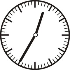 Uhrzeit 0.35 12.35 - Uhr, fünf Minuten nach halb, Uhrzeit, Zeit, Zeitspanne, Zeitpunkt, Zeiger, Mechanik, Zeitskala, Zeitgeber, Analoguhr, Zifferblatt, Ziffernblatt, rechtsdrehend, Uhrzeigersinn, Minute, Stunde, Kreis, Winkel, Grad, Mathematik, Größen, messen, time, clock, ermitteln, Zeitraum, Dauer, Frist, Termin, Zeitabschnitt, thirty-five