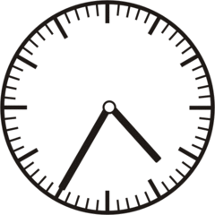 Uhrzeit 4.35 16.35 - Uhr, fünf Minuten nach halb, Uhrzeit, Zeit, Zeitspanne, Zeitpunkt, Zeiger, Mechanik, Zeitskala, Zeitgeber, Analoguhr, Zifferblatt, Ziffernblatt, rechtsdrehend, Uhrzeigersinn, Minute, Stunde, Kreis, Winkel, Grad, Mathematik, Größen, messen, time, clock, ermitteln, Zeitraum, Dauer, Frist, Termin, Zeitabschnitt, thirty-five