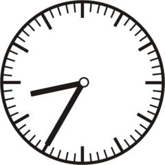 Uhrzeit 8.35 20.35 - Uhr, fünf Minuten nach halb, Uhrzeit, Zeit, Zeitspanne, Zeitpunkt, Zeiger, Mechanik, Zeitskala, Zeitgeber, Analoguhr, Zifferblatt, Ziffernblatt, rechtsdrehend, Uhrzeigersinn, Minute, Stunde, Kreis, Winkel, Grad, Mathematik, Größen, messen, time, clock, ermitteln, Zeitraum, Dauer, Frist, Termin, Zeitabschnitt, thirty-five