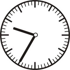 Uhrzeit 9.35 21.35 - Uhr, fünf Minuten nach halb, Uhrzeit, Zeit, Zeitspanne, Zeitpunkt, Zeiger, Mechanik, Zeitskala, Zeitgeber, Analoguhr, Zifferblatt, Ziffernblatt, rechtsdrehend, Uhrzeigersinn, Minute, Stunde, Kreis, Winkel, Grad, Mathematik, Größen, messen, time, clock, ermitteln, Zeitraum, Dauer, Frist, Termin, Zeitabschnitt, thirty-five