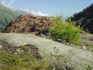 Hier war ein Gletscher - Gebirge, Alpen