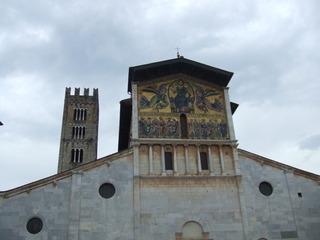 Chiesa di San Frediano - Kirche, Lucca, Toskana, Italien, Architektur, Romanik, Mosaik, Himmelfahrt Christi, Basilica minor
