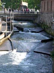 Kanusport #4 - Kanusport, Wassersport, Wasser, Kanu, paddeln, Strömung, stauen, Strecke