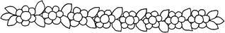 Blumengirlande - Blume, Blüte, Girlande, Blumenkette, Schmuck, Dekoration, Illustration