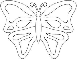 Schmetterling #2 - Schmetterling, Falter, Symmetrie, symmetrisch, fliegen, Anlaut Sch, Illustration
