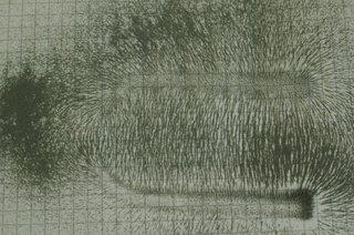 Magnetfeld eines Hufeisenmagneten - Physik, Magnetismus, Magnetfeld, Feldlinien, Hufeisenmagnet, Magnetpol, Magnet