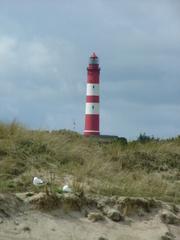 Der Amrumer Leuchtturm - Insel, Leuchtturm, Amrum, Düne, Strand, Dünengras, Sand