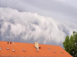 Vor dem Sturm1# - Gewitter, Wolken, grau, Ankündigung, Wetter, Sturm, Gewitterwolken, Himmel, Luft, Atmosphäre, Schreibanlass