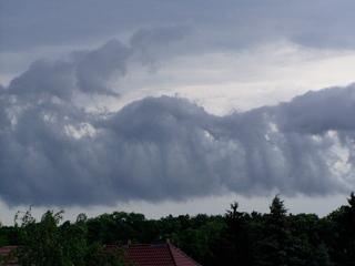 Gewitter im Abzug - Gewitter, Wolken, Sturm, Gewitterwolken, Himmel, Luft, Atmosphäre, Schreibanlass, Wetter