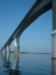 Die Kalmarsund-Brücke - Kalmarsund, Brücke, Kalmarsundbrücke, Schweden, Öland, Kalmar, Wasser, blau, Meer