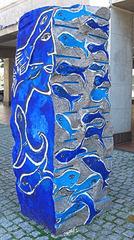 Uelzen - Weg d. Steine - Stein d. Glücks - Stein, Skulptur, Kunst, Kunstobjekt, Plastik, Farbe, farbig, bunt