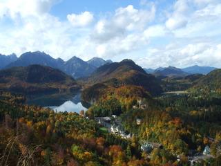 Alpenpanorama - Alpen, Deutschland, Seenlandschaft, Alpenpanorama, Geographie, Allgäu, Schloss, Hohenschwangau, Herbst