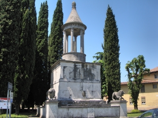 Mausoleum - Italien, Aquileia, Grab, Mausoleum, Römer, Relikte, Grabmal, Gebäudeform