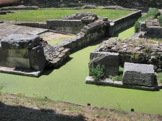 Aquileia - Hafen #3 - Italien, Römer, Hafen, Porto, Ruinen, Relikt, Ausgrabung, Aquileia, Entengrütze
