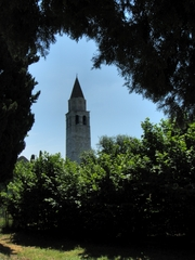 Campanile Aquileia - Basilika, Italien, Aquileia, Kirchturm, Kirche, Glockenturm