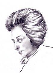 Wolfgang Amadeus Mozart  - Komponistenporträt, Komponistenportrait, Mozart, Joseph Lange