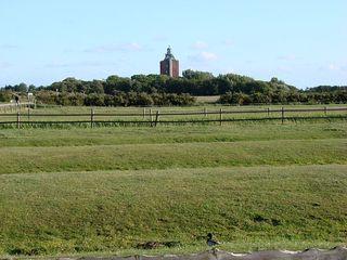 Leuchtturm Neuwerk # 4 - Leuchtturm, Neuwerk, Insel, Turm, Leuchtfeuer, Schifffahrt, Seefahrt, Hamburg, Schutz