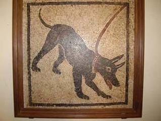 Cave canem - Pompeji, Haus des tragischen Dichters, Kettenhund, Vesuv, Ausbruch, Aschenregen