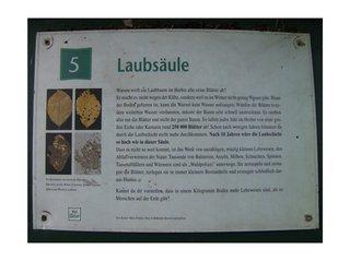 Laubsäule #2 - Laubsäule, Erklärung, Hinweisschild